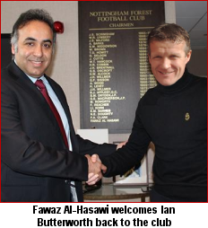Fawaz Al-Hasawi welcomes Ian Butterworth back to the club