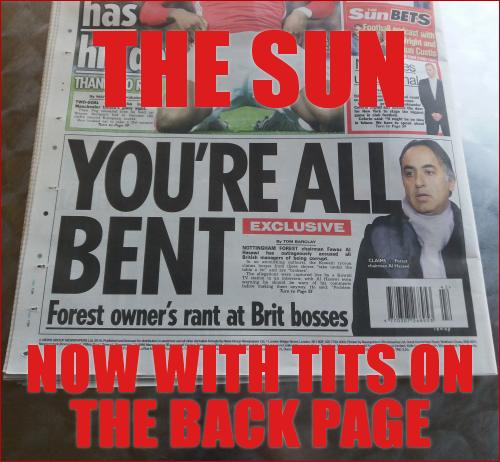 The Sun: now with tits on the back page